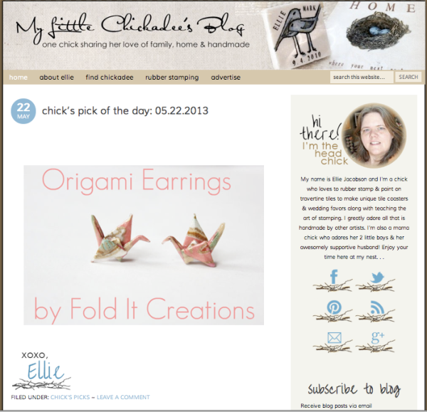 The Little Chickadee's Blog